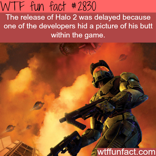 Hidden Butt in Halo 2 game -  WTF fun facts