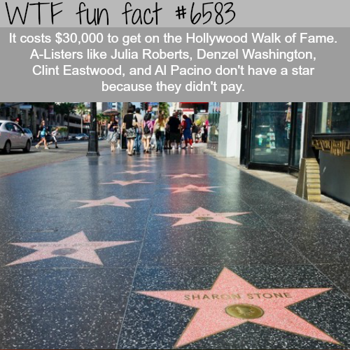 Hollywood Walk of Fame - WTF fun facts