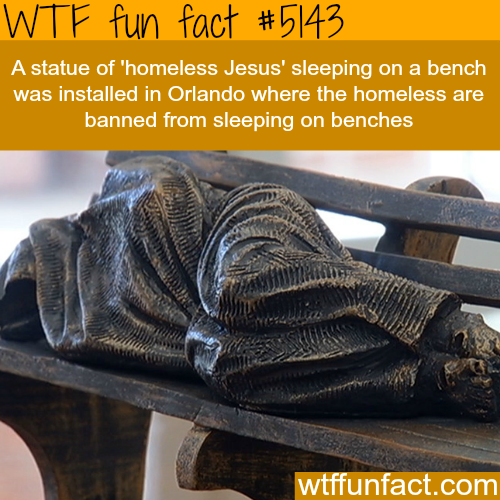 Homeless Jesus statue in Orlando - WTF fun facts