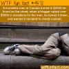 homeless man returns lost money found in street