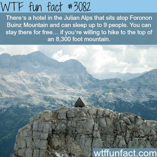 Hotel at the top of the Julian Alps -  WTF fun facts