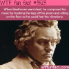 how beethoven felt the music when he was deaf