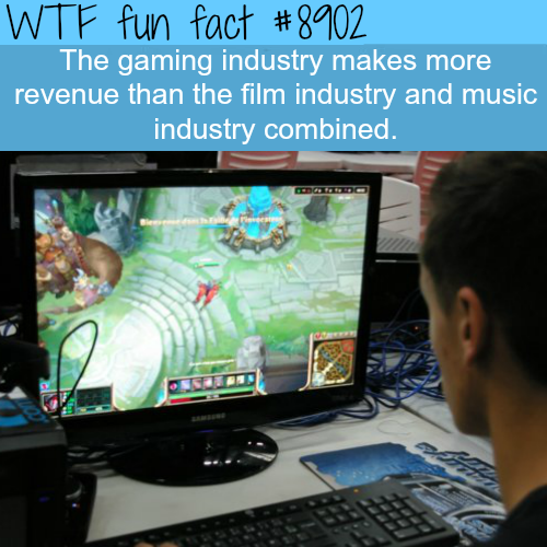 How big is the gaming industry - WTF fun facts