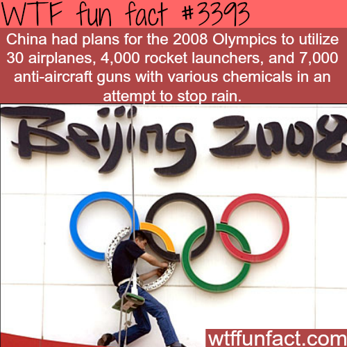 How China wanted to stop rain -  WTF fun facts