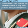 how chinese soldiers keep idea postures