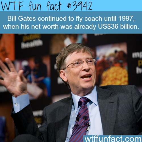 How humble is Bill Gates - WTF fun facts