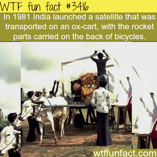 How India transported it's first satellite - WTF fun facts