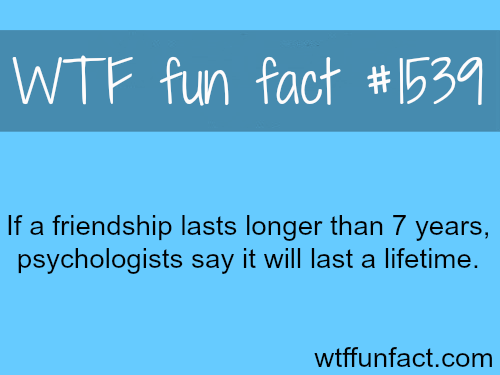 How long can friendship lasts? wtf fun facts