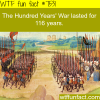how long did the hundred years war last wtf fun
