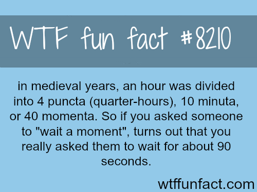 How long is a moment? - WTF fun fact