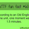 how long is a moment wtf fun facts