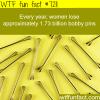 how many bobby pins women lose wtf fun fact