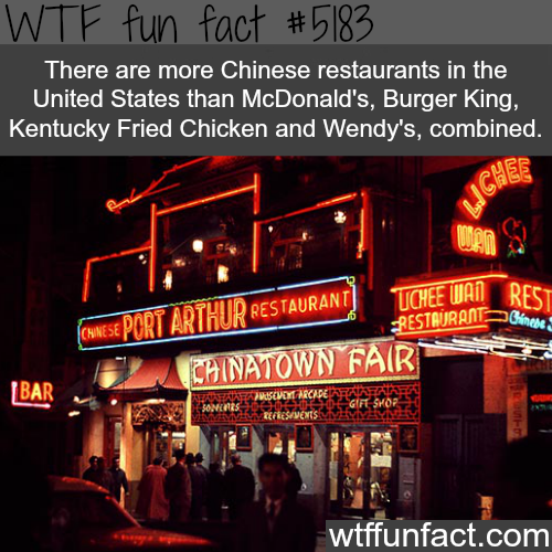 How many Chinese restaurant in the USA - WTF fun facts