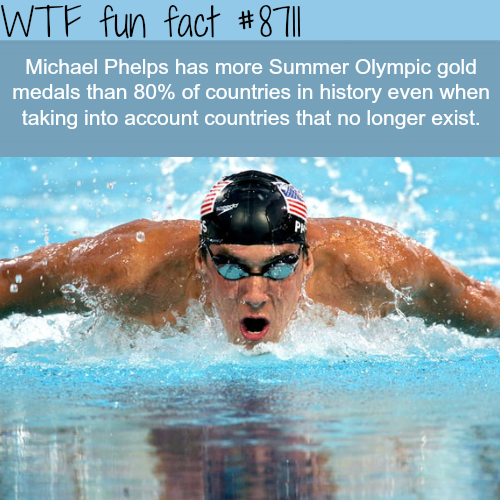 How many gold medals Michael Phelps won - WTF fun facts