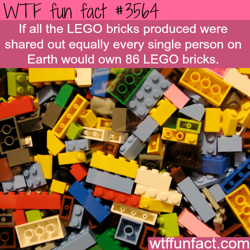 How many lego bricks are there? - WTF fun facts