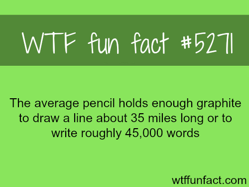 How many miles of lines can the average pencil draw - WTF fun facts