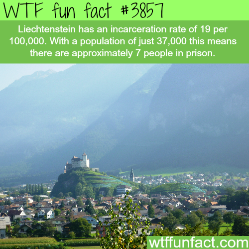 How many people are in jail in Liechtenstein? - WTF fun facts