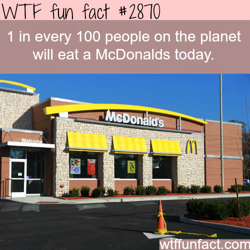 How many people eat at McDonalds each day? -WTF fun facts