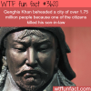 how many people genghis khan killed wtf fun