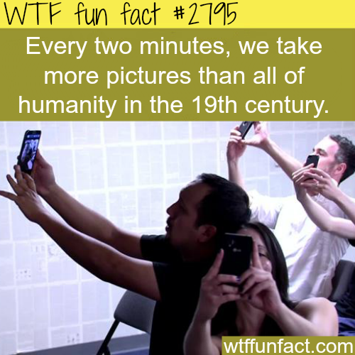 How many pictures do we take each minute? - WTF fun facts