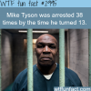 how many times was mike tyson arrested