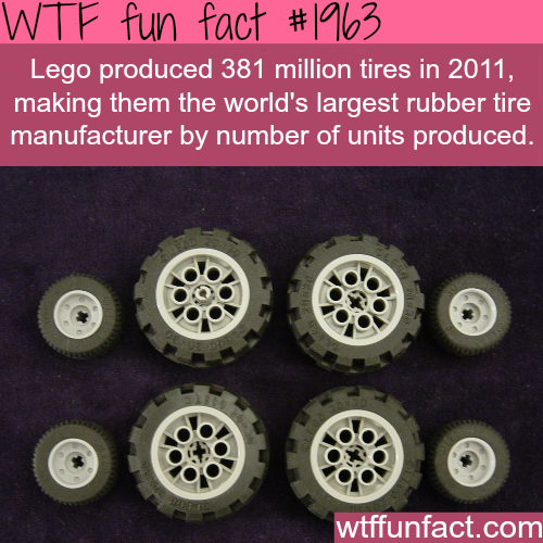 how many tires does lego produce? -WTF fun facts