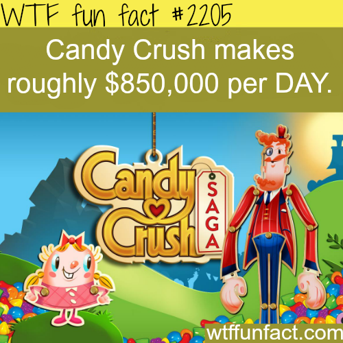 How much candy crush make every day-WTF fun facts
