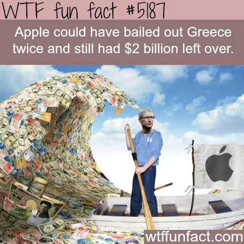 How much cash does Apple have in hand - WTF fun facts