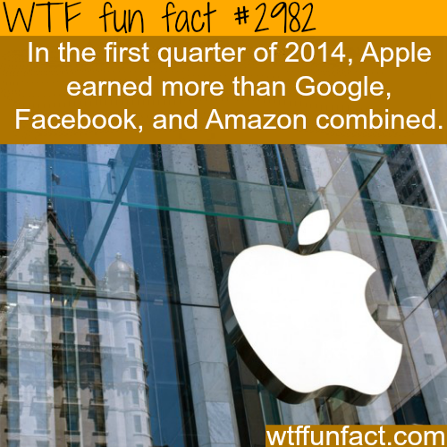 How much does apple make? -WTF fun facts