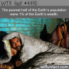 how much does the poorest half of the worlds
