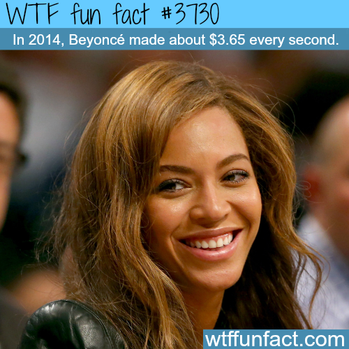 How much money did Beyonce make in 2014? -  WTF fun facts