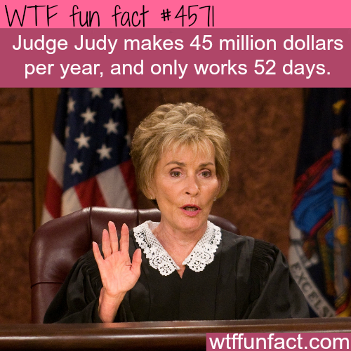 How much money does Judge Judy make? -   WTF fun facts