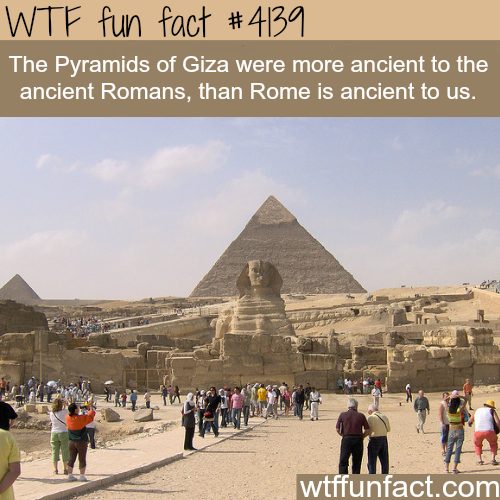 How old are the Pyramids of Giza -  WTF fun facts
