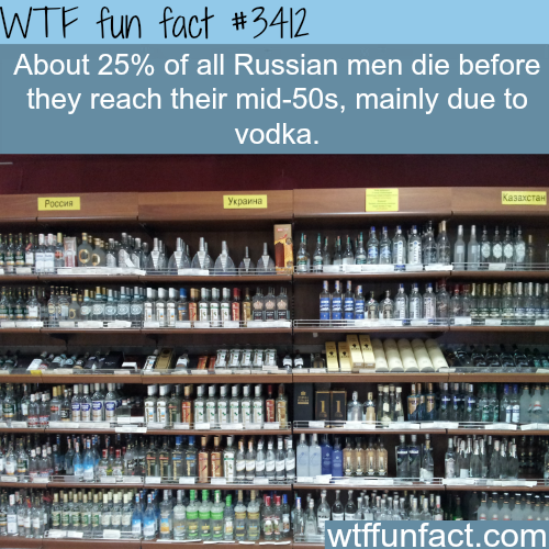 How quarter of Russian men don't survive til 50 -  WTF fun facts