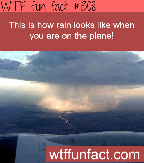 This is how rain looks like when you are on the plane - amazing view