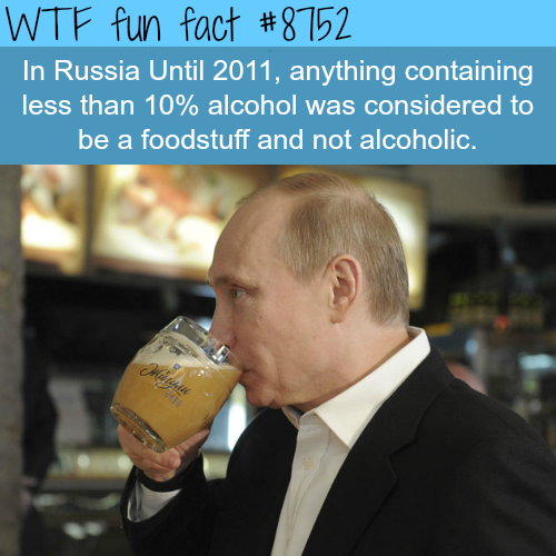 How Russia classified alcoholic beverages - WTF fun facts