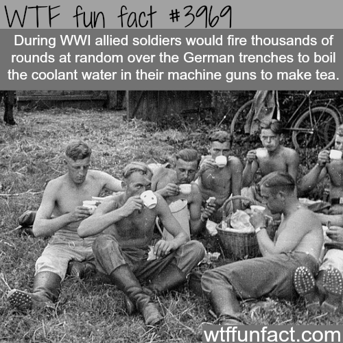 How soldiers heated tea during WW1 - WTF fun facts