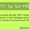 how thai people laugh when texting