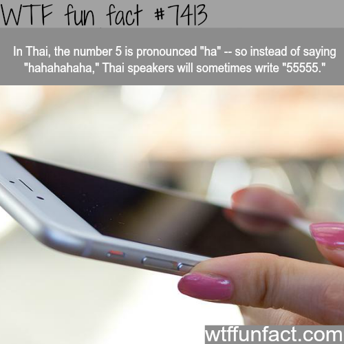 How Thai people laugh when texting… - FACTS