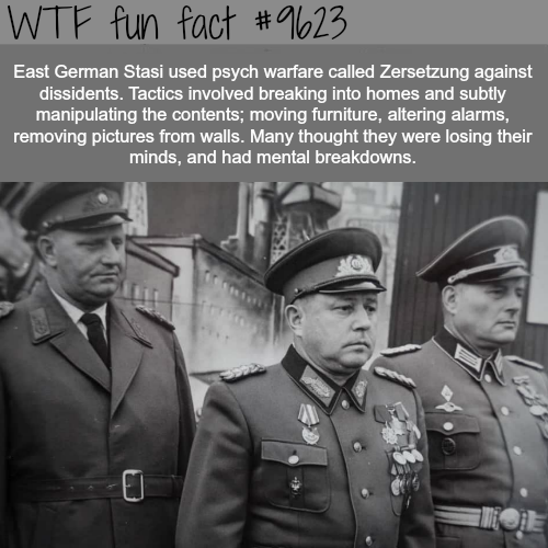 How the East German secret police manipulated people - WTF fun fact