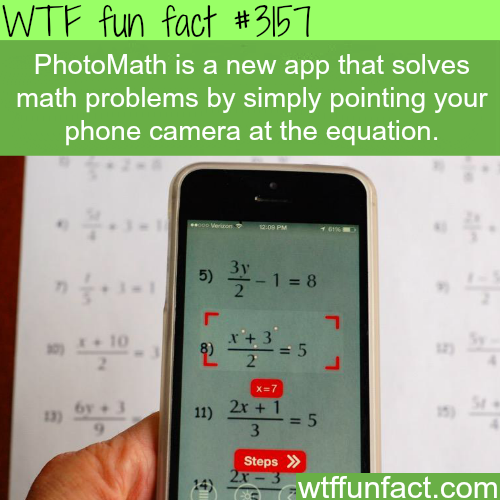 How to solve math equation with your phone camera -WTF fun facts