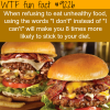 how to stick to a diet wtf fun fact