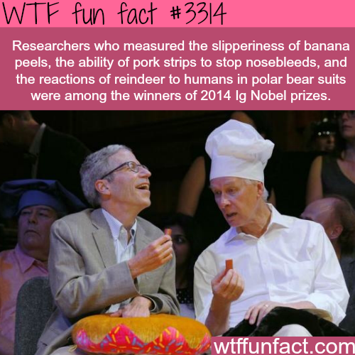 How to win a Nobel prize -WTF fun facts