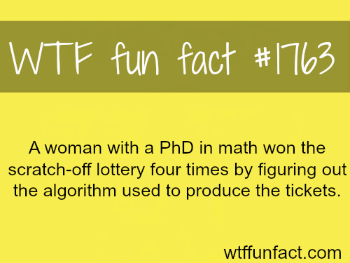 How to win the lottery…- WTF fun facts