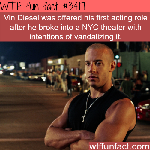 How Vin Diesel acting career started -  WTF fun facts