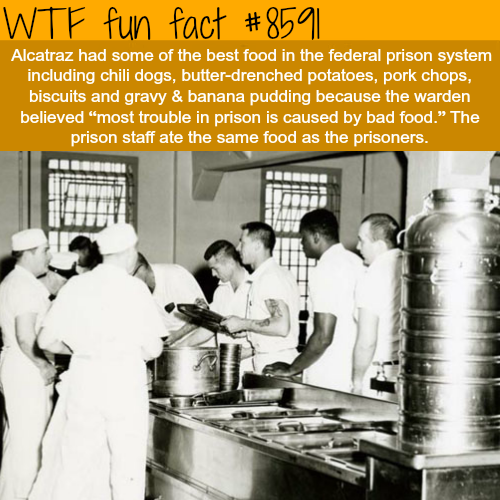 How was the food in Alcatraz - WTF fun facts