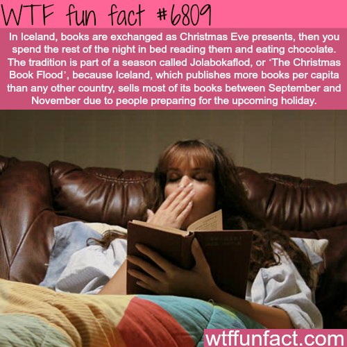 Icelandic tradition of giving books on Christmas eve - WTF fun fact