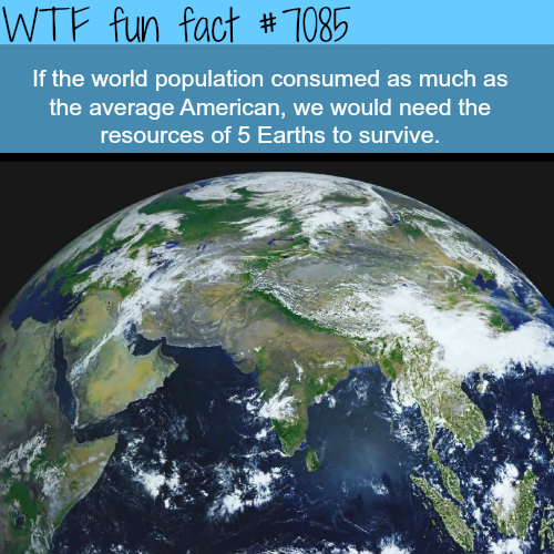If everyone in the world consumed as much as Americans - WTF fun facts