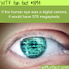 if the human eye was a digital camera