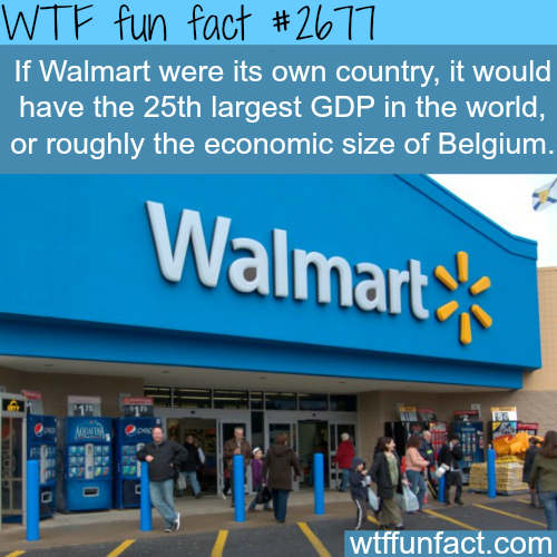 If Walmart was a country - WTF fun facts